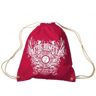 Sporttasche Turnbeutel Trend-Bag Print Feuerwehr Fire Rescue TB12989 rot