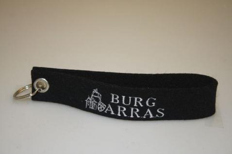 Filz-Schlüsselanhänger mit Stick - BURG ARRAS - Gr. ca. 17x3cm - 14046 - Keyholder