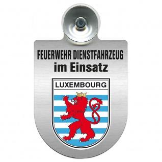 Einsatzschild Windschutzscheibe incl. Saugnapf - Feuerwehr Dienstfahrzeug im Einsatz - 393801 - incl. Regionen nach Wahl Region Luxembourg