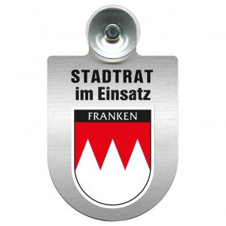 Einsatzschild Windschutzscheibe incl. Saugnapf - Stadtrat im Einsatz - 309394 Region Franken