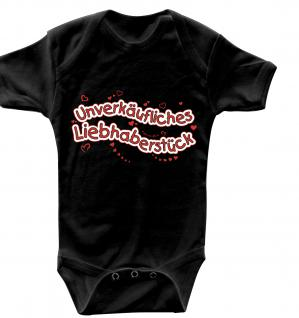 Babystrampler mit Print ? unverkäufliches Liebhaberstück - 08492 schwarz - Gr. 6-12 Monate