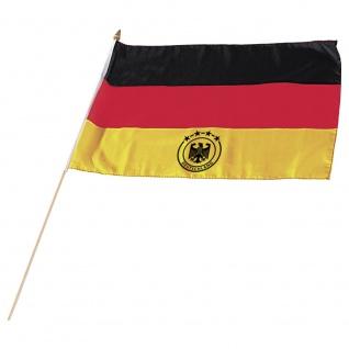 Fahne Stockfahne Deutschland 4 Sterne Adler - 07615 Gr. ca. 40x30cm