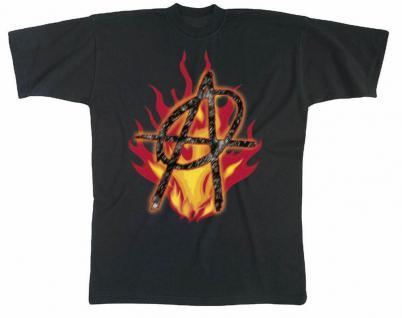 T-Shirt unisex mit Aufdruck - ANARCHIE - 09610 - Gr. M