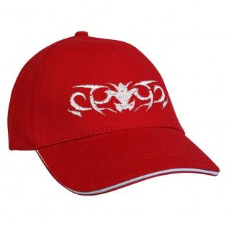 Baseballcap mit Einstickung Tribal 68109 rot