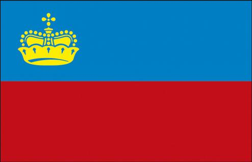 Stockländerfahne - Lichtenstein - Gr. ca. 40x3cm - 77094 - Schwenkflagge Fahne Flagge