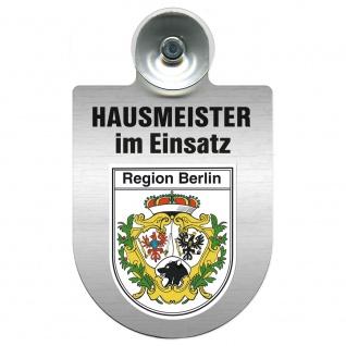 Einsatzschild Windschutzscheibe incl. Saugnapf - Hausmeister im Einsatz - 309393 - Region Berlin
