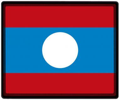 Mousepad Mauspad mit Motiv - Laos Fahne Fußball Fußballschuhe - 82090 - Gr. ca. 24 x 20 cm