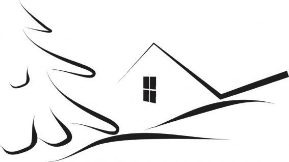 """Wandtattoo/ Dekorfolie mit Motiv """" stilisiertes Haus"""" Ø 90cm Länge max.100 cm, in 11 Farben WD0811 schwarz"""