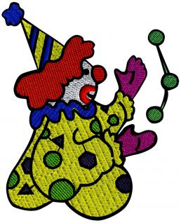 AUFNÄHER - CLOWN - NEU - 04447 - Gr. ca. 8 cm x 10 cm - Patches Stick Applikation Bügel-Emblem