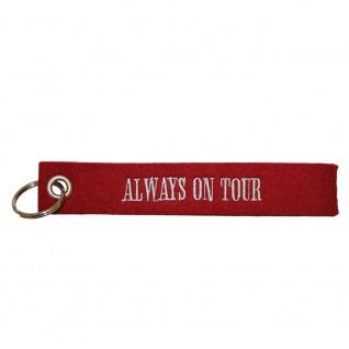 Filz-Schlüsselanhänger mit Stick Allways on Tour Gr. ca. 17x3cm 14289 rot