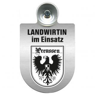 Einsatzschild Windschutzscheibe incl. Saugnapf - Landwirtin im Einsatz - 309738-19 Region Preussen