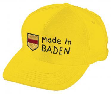 Kinder Baseballcap mit Stickerei - Wappen Made in Baden - 60897 gelb