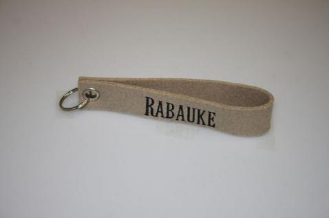 Filz-Schlüsselanhänger mit Stick Rabauke Gr. ca. 17x3cm 14264 beige