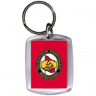 Keyholder Schlüsselanhänger - DDR BRIGADE - Gr. ca. 3x4cm - 03385 - - Vorschau 2