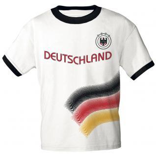 Fan T-Shirt Deutschland S M L XL XXL 10638 weiß / S
