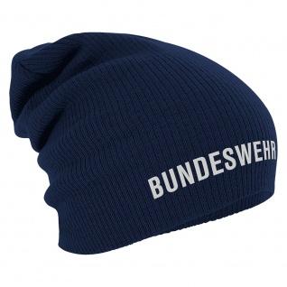 Longbeanie Slouch-Beanie Wintermütze Bundeswehr 55205 Navy