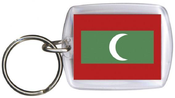 Schlüsselanhänger - MALEDIVEN - Gr. ca. 4x5cm - 81100 - Anhänger WM Länder