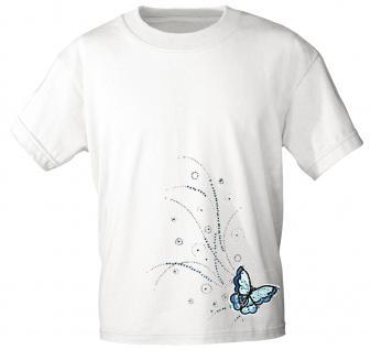 (12854) T- Shirt mit Glitzersteinen Gr. S - XXL in 17 Farben weiß / L
