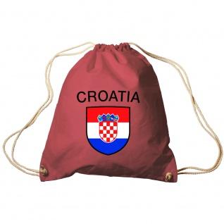 Sporttasche Turnbeutel Trend-Bag Print Fahne Flagge Kroatien Croatia TB76387 rot