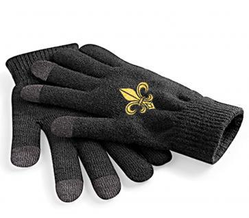 (31652)Touch Handschuhe mit Spezialeinsätzen an den Fingerkuppen in 8 Mitiv- Varianten L/XL / Lilie - Vorschau 2