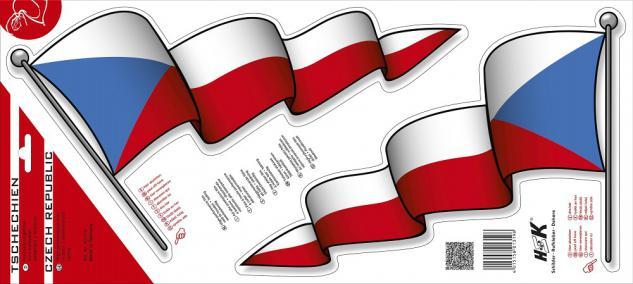 Aufkleber Autoaufkleber - Tschechien - 301319 - Gr. ca. 34cm x 20cm - 2 Stück = 1 Preis
