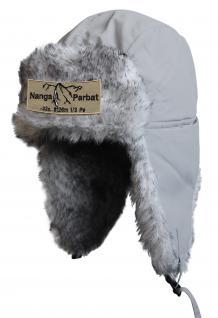 Chapka Fliegermütze Pilotenmütze Fellmütze in grau mit 28 verschiedenen Emblemen 60015 Nanga Parbat