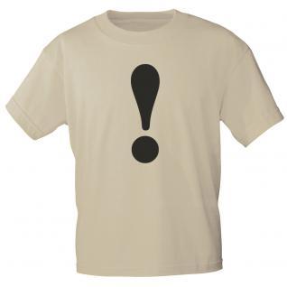 """Marken T-Shirt mit brillantem Aufdruck """"!"""" 85121-! L"""