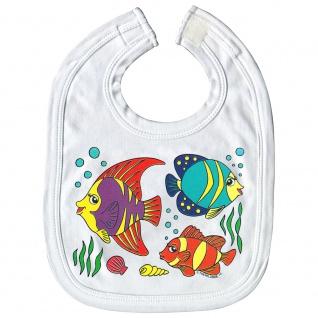 Baby-Lätzchen mit Print Fische Nemo L12779 versch. Farben weiß