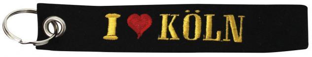 Filz-Schlüsselanhänger mit Stick I LOVE KÖLN Gr. ca. 17x3cm 14020 Keyholder schwarz