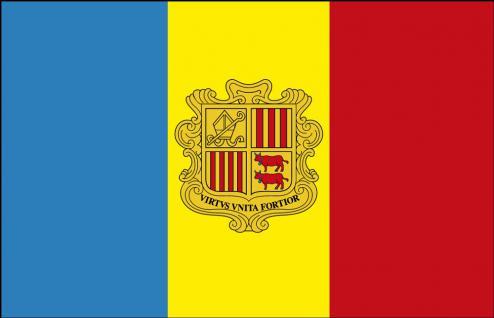 Stockländerfahne - Andorra - Gr. ca. 40x30cm - 77010 - Schwenkflagge