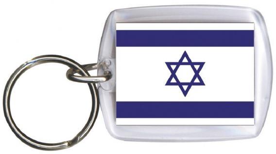 PLEXIGLAS-Schlüsselanhänger mit Nationalflagge - ISRAEL - Gr. ca. 4cm x 6cm (81069) Länderflagge - Schlüsselbund Keyholder
