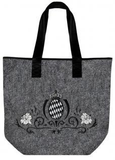 Filztasche Shopper mit Einstickung Tasche Umhängetasche Shopper - Bayern - 26011