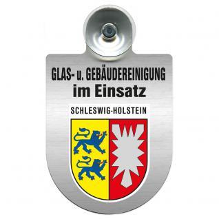 Einsatzschild für Windschutzscheibe incl. Saugnapf - Glas- u. Gebäudereinigung im Einsatz - 309399-12 Region Schleswig-Holstein