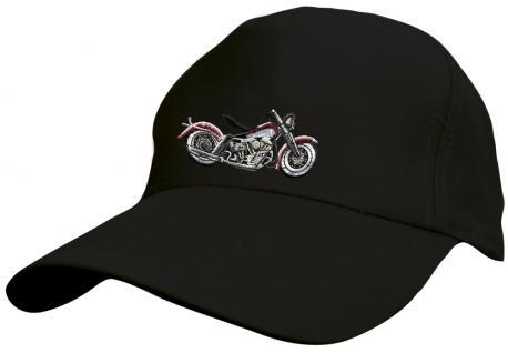 Kinder - Cap mit Motorrad-Bestickung - Harley ShopperBike Motorrad - 69129-3 schwarz - Baumwollcap Baseballcap Hut Cap Schirmmütze