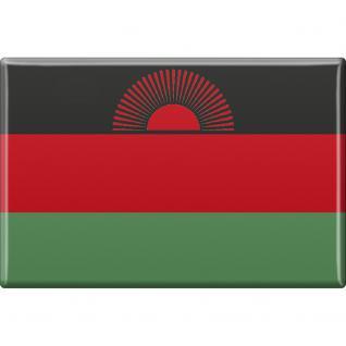 Küchenmagnet - Länderflagge Malawi - Gr.ca. 8x5, 5 cm - 38075 - Magnet