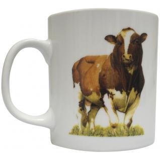 Tasse Kaffeebecher mit Print Kuh Bulle Rind Ochse 57433