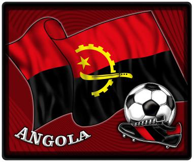 Mousepad Mauspad mit Motiv - Angola Fahne Fußball Fußballschuhe - 83012 - Gr. ca. 24 x 20 cm - Vorschau