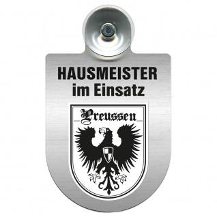 Einsatzschild Windschutzscheibe incl. Saugnapf - Hausmeister im Einsatz - 309393 - Region Preussen