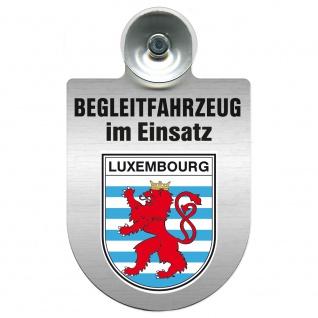Einsatzschild Windschutzscheibe incl. Saugnapf - Begleitfahrzeug im Einsatz - 309457 - Region Luxembourg