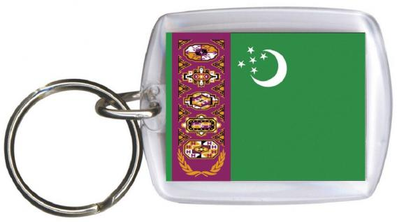 Schlüsselanhänger Anhänger - TURKMENISTAN - Gr. ca. 4x5cm - 81174 - Keyholder WM Länder