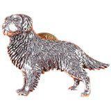 Anstecknadel - Metall - Pin - Golden Retriver - Hund - Größe ca 4 x 3 cm - 02614