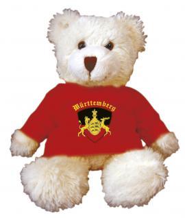 Teddybär mit Shirt - Motiv Druck - Württemberg - rot 27018
