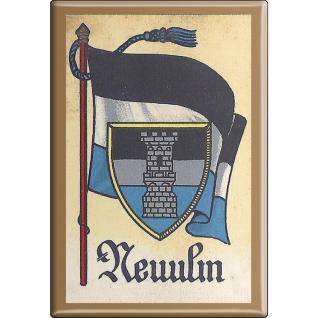Küchenmagnet - Wappen Neuulm - Gr. ca. 8 x 5, 5 cm - 37539 - Magnet Kühlschrankmagnet