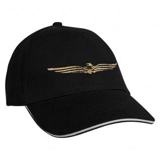 Baseballcap mit Einstickung Military Abzeichen 68219 schwarz