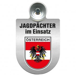 Einsatzschild Windschutzscheibe incl. Saugnapf - Jagdpächter im Einsatz - 09757 - Region Österreich