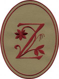 AUFNÄHER oval - Buchstabe Z - Gr. ca. 10cm x 14cm (21691) Patches Stick Emblem Alphabet ABC