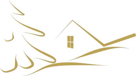 """Wandtattoo/ Dekorfolie mit Motiv """" stilisiertes Haus"""" Ø 90cm Länge max.100 cm, in 11 Farben WD0811 gold"""