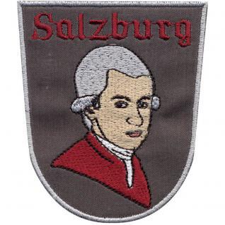 Aufnäher - Mozart Salzburg - 00891 - Gr. ca. 9 x 7 cm - Patches Stick Applikation