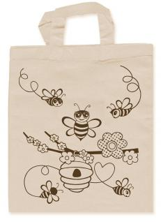 ausmalbare Kinder-Baumwolltasche - Bienen - 31722