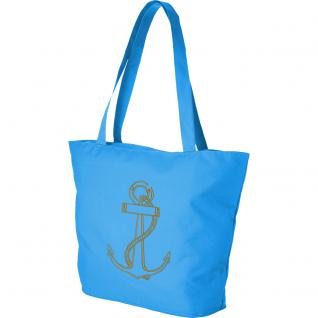 Modische Lifestyle-Tasche mit Motiv- Stickerei - Anker - 15501 - Shopper Strandtasche Ticiana Montabri